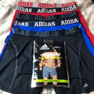 ADIDAS size LARGE Stay Cool Boxer Brief 5 pair GUC